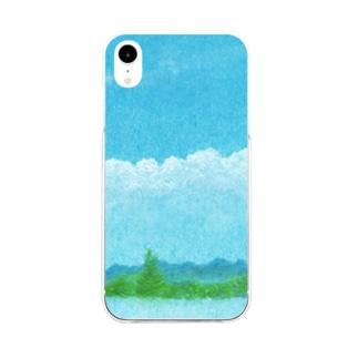 あの空に想う Soft clear smartphone cases
