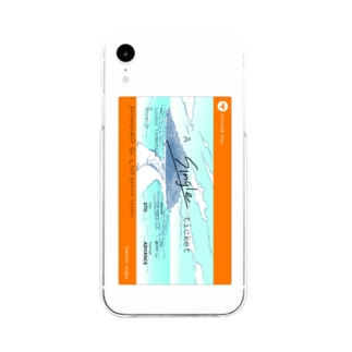 A single ticket Soft clear smartphone cases