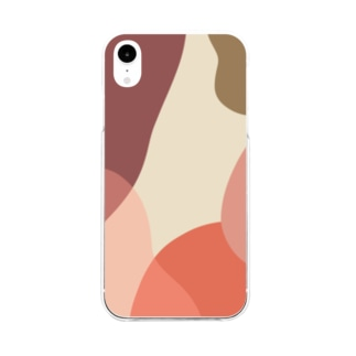 poqpoqのぬくい Soft clear smartphone cases