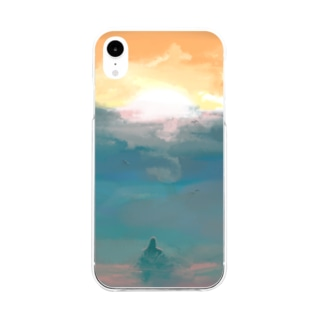 Mermaid of sunset Soft clear smartphone cases