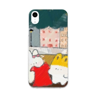 赤いワンピース🐰 Soft clear smartphone cases