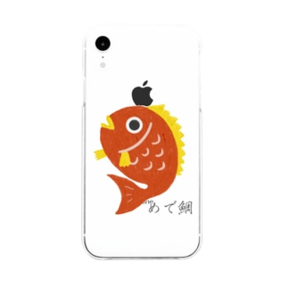めで鯛 Soft clear smartphone cases