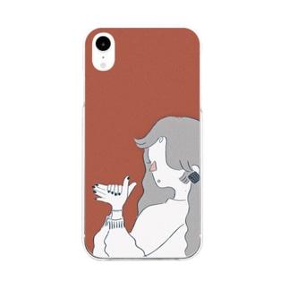 ワンワン Soft clear smartphone cases