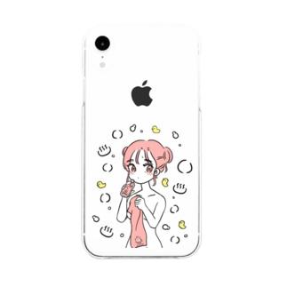 せんとうあがりのおんなのこ Soft clear smartphone cases