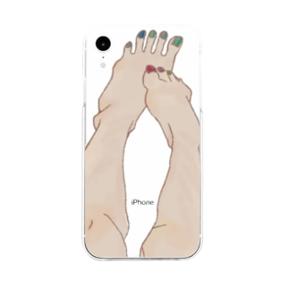 SOMEONE S FOOT  Soft clear smartphone cases