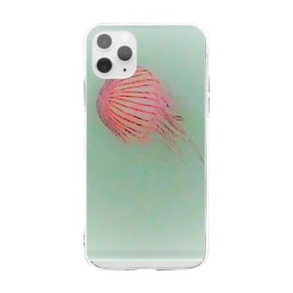 アカクラゲ Soft clear smartphone cases