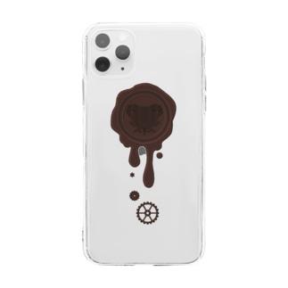 healing-honey(ヒーリングハニー)のチョコ好きさんへ♪【ビターチョコ】healing-honey蝋封風ロゴモチーフ Soft clear smartphone cases