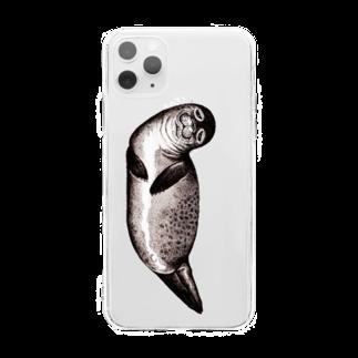 Dark blancoのアザラシ Soft clear smartphone cases