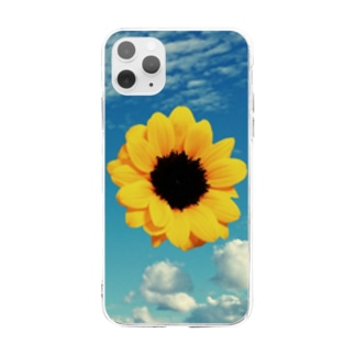 ひまわり Soft clear smartphone cases