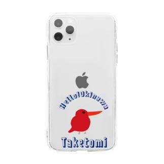 ハロー!沖縄 竹富島 Soft clear smartphone cases