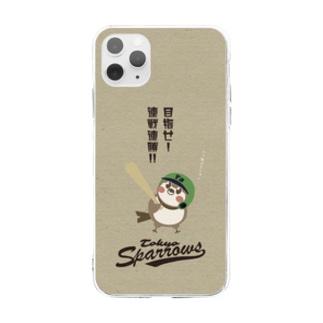 東京Sparrows Soft clear smartphone cases