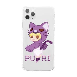 ぷり☆ネコちゃん Soft clear smartphone cases
