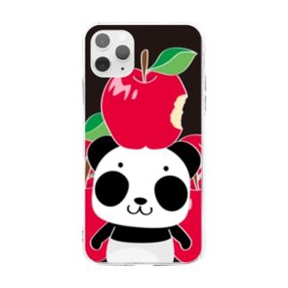 ズレてもぱんだズレぱんだちゃんのリンゴ食べたの誰?C Soft clear smartphone cases