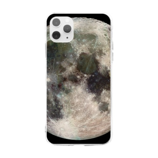 """""""the MOON - 愛と幸運の星"""" Soft clear smartphone cases"""