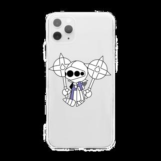 ウサネコのナイツ・メイス1 Soft clear smartphone cases
