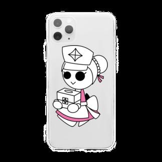 ウサネコのナイツ・ナース Soft clear smartphone cases