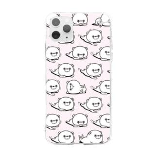 くま100%iphoneケース Soft clear smartphone cases