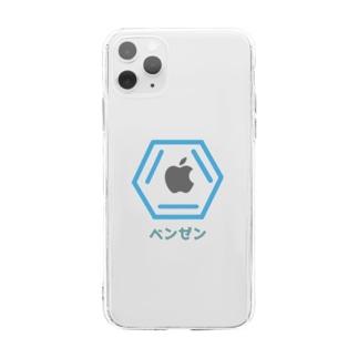 理系 ベンゼン Soft clear smartphone cases