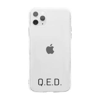 理数 理系Q.E.D. Soft clear smartphone cases