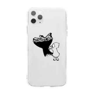 影絵 Soft clear smartphone cases
