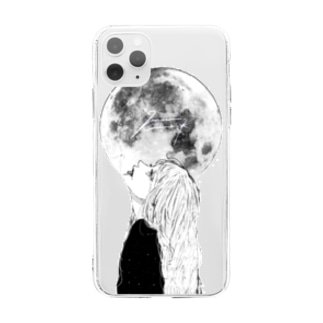 full moon🌙 Soft clear smartphone cases