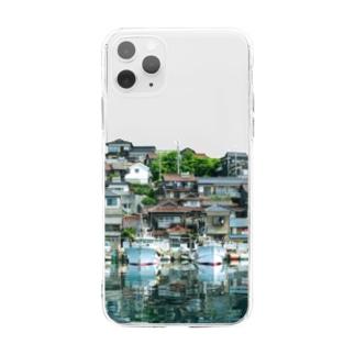 雑作家Junyaのいい街並みのiPhoneケース(B) Soft clear smartphone cases