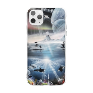 spray  art  satoshiデザイン Soft clear smartphone cases