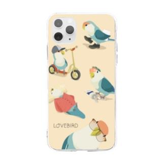ことり、にんげんになりたい Soft clear smartphone cases