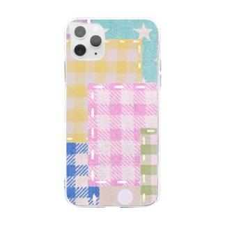 ミルキーパッチワーク風♡ Soft clear smartphone cases