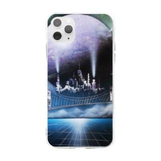 スプレーアート街 Soft clear smartphone cases