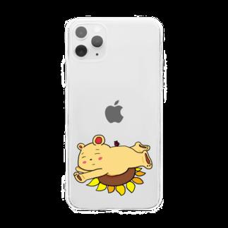 ぺけ丸のお昼寝くま Soft clear smartphone cases