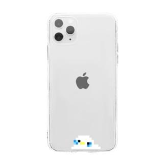 鳥スライム / セキセイ 白 Soft clear smartphone cases