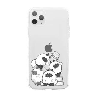 フワドコちゃん Soft clear smartphone cases