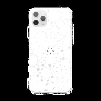丑嶋🐄模様描く人の真っ白しろ Soft clear smartphone cases