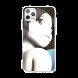甕邨(ようそん)の帽子の少女 3D Soft clear smartphone cases