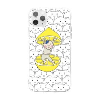 フチオとタマ Soft clear smartphone cases