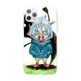 うんだばだーオバケと少年 Soft clear smartphone cases