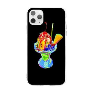 カラフルパフェ Soft clear smartphone cases