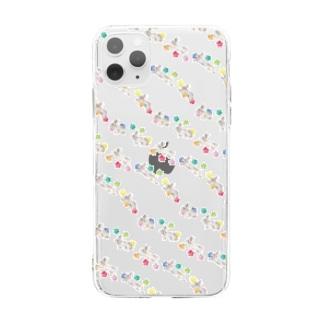 ぴょんぴょこ Soft clear smartphone cases