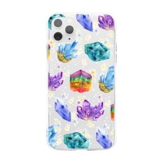 からふる鉱石 Soft clear smartphone cases
