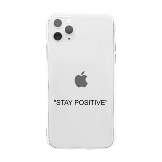 STAY POSITIVE Soft clear smartphone cases
