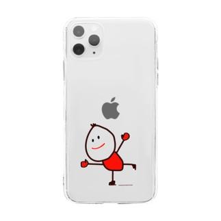 スケートくん Soft clear smartphone cases