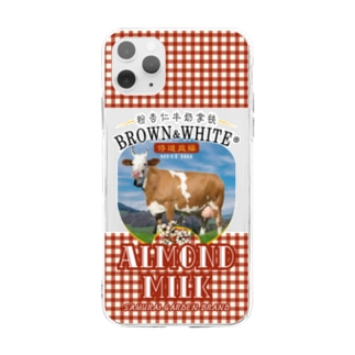 BROWN&WHITE iphoneケース Soft clear smartphone cases