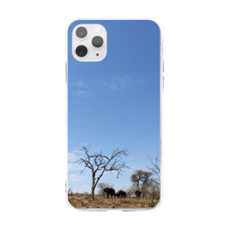 Hagのゾウと空 Soft clear smartphone cases