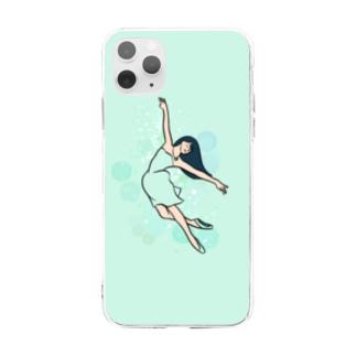 バレリーナ ミント Soft clear smartphone cases