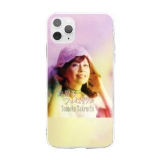 Tomoko Takeuchi真夏のフェイズダウン・ジャケット Soft clear smartphone cases