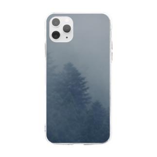 霧の中 Soft clear smartphone cases