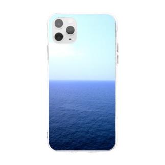 水平線 Soft clear smartphone cases