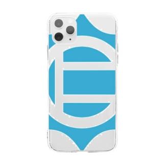 仁志路島ロゴグッズ Soft Clear Smartphone Case