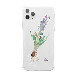 ヒヤシンス Soft clear smartphone cases